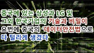 중국에 있는 삼성과 LG 및 그외 한국기업의 기술과 비…