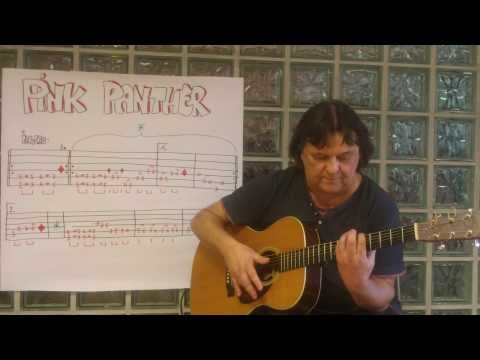 Fingerstyle Guitar Lesson #29: PINK PANTHER (Main Theme)