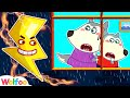 Thunder, Go Away!!! - Wolfoo Learns Safety Tips for Kids | Wolfoo Family Kids Cartoon