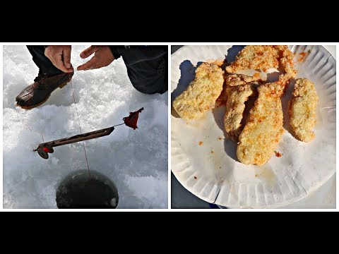 ANTIQUE ICE FISHING TIP UP CATCH AND COOK
