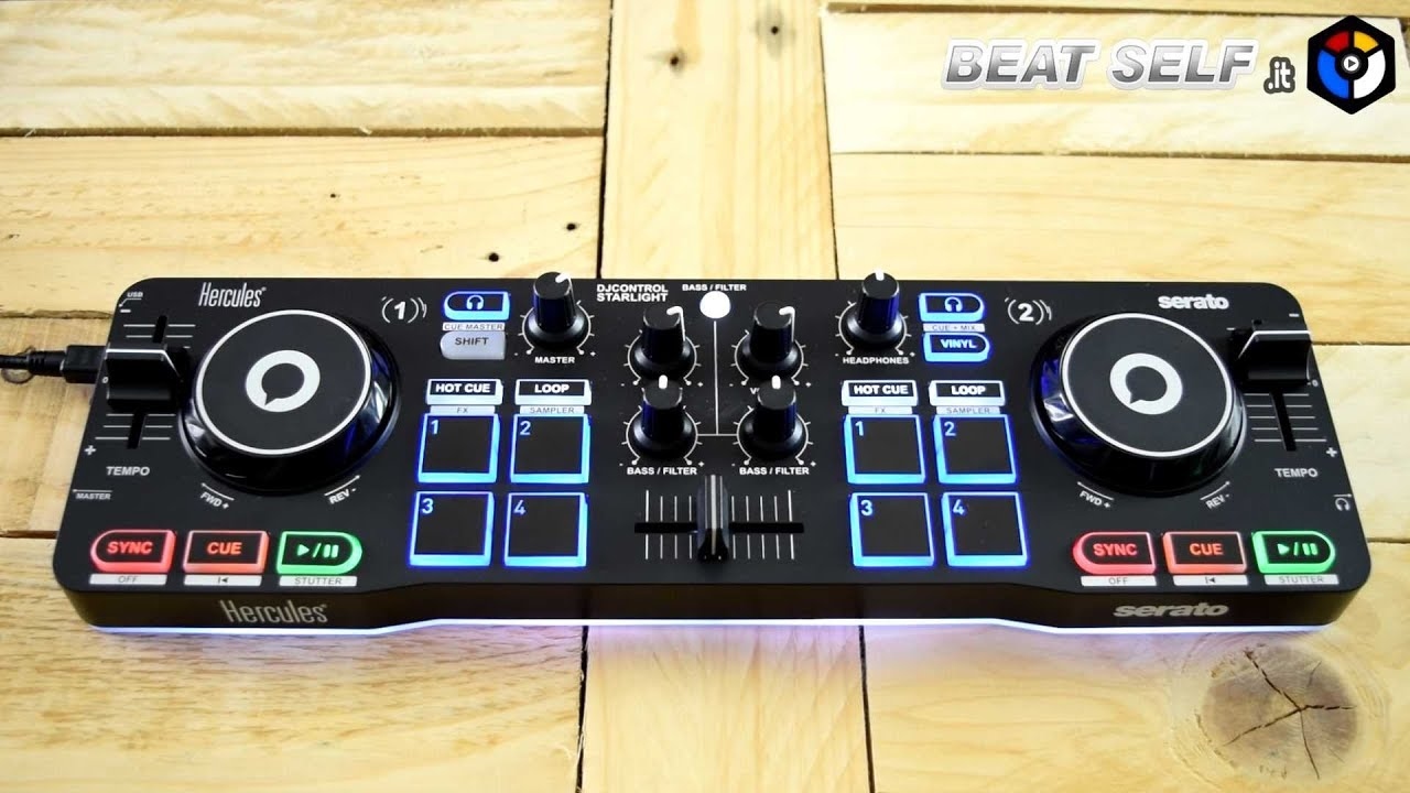 Hercules DJControl Starlight Review and Test, Pro and Contra