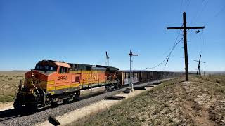 [HD] BNSF MOW Freight Through the Semaphores on Raton