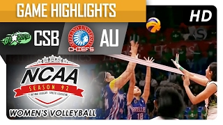 getlinkyoutube.com-CSB vs AU | Step Ladder Game Highlights | NCAA 92 Women's Volleyball