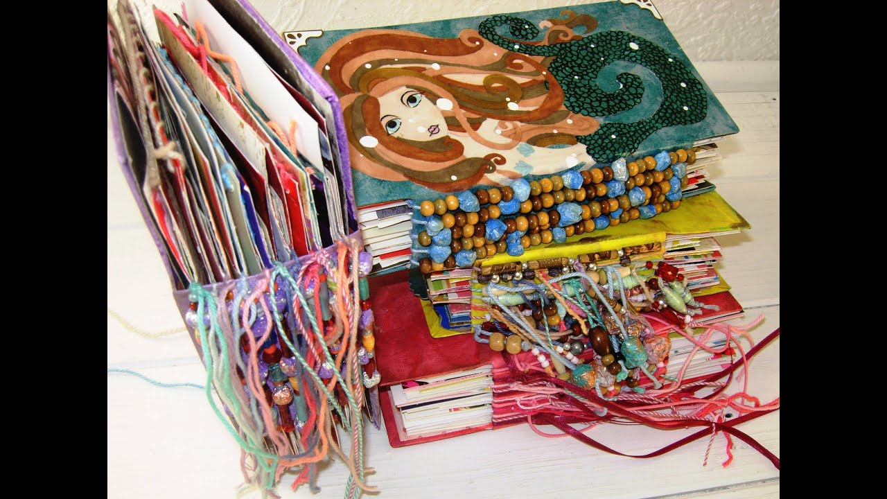 Make An Art Journal With Recycled Greetings Cards