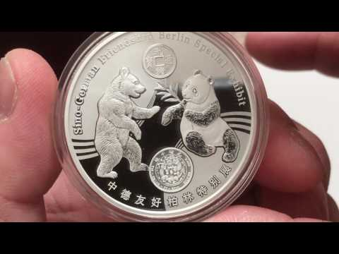 2017 World Money Fair Berlin Silver 1 oz and 8g Panda Medals