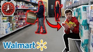 24 HOUR OVERNIGHT CHALLENGE IN WALMART!