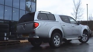 Mitsubishi L200 Long Bed Aeroklas Truck Top Canopy Installation
