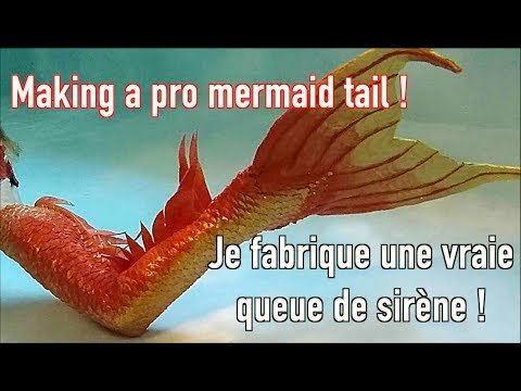 I'm making a silicon mermaid tail in front of you !