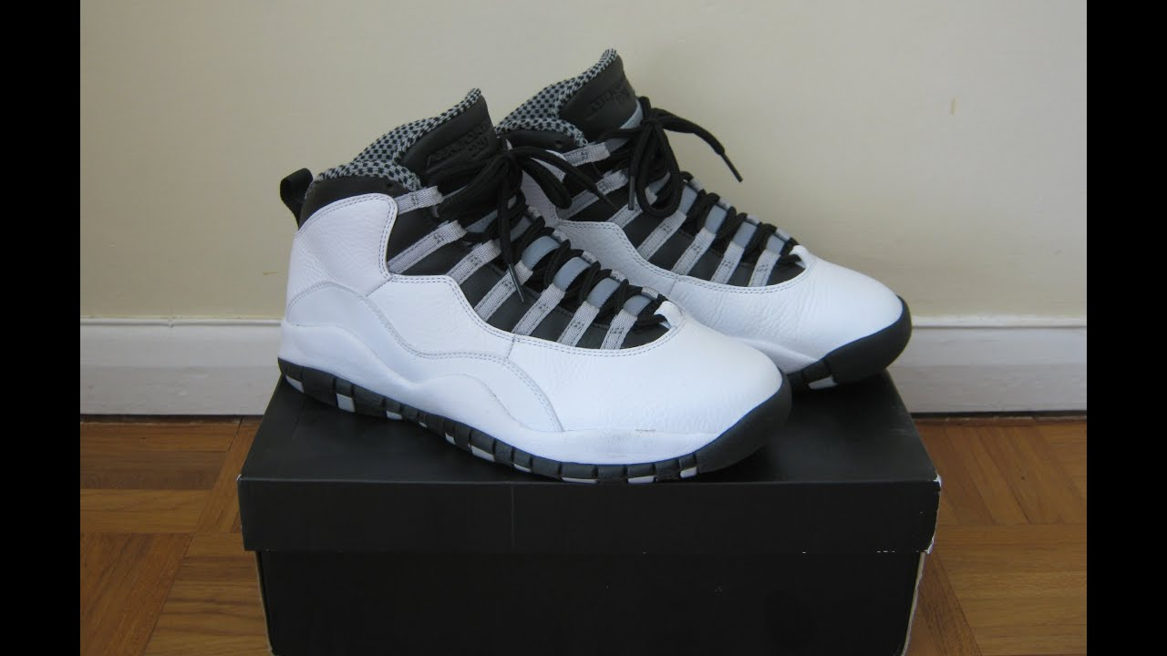 buy popular d2513 2f4ba Air Jordan Retro 10 Steel on feet