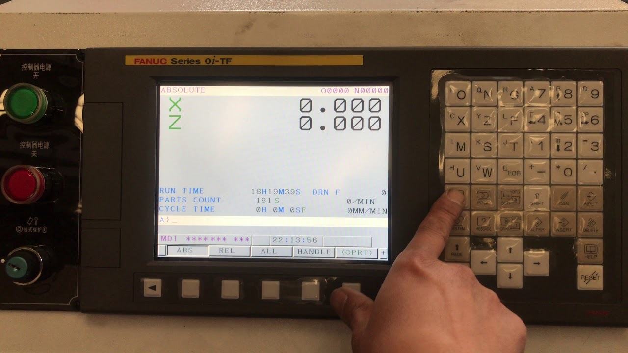 FANUC 0i mate TD/TF set reference point after replace the Drive battery