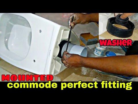 Wall Hung Commod Installation Bathroom ,Easy Method