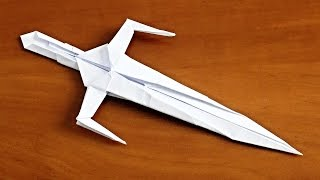 Как сделать нож из бумаги. Меч Оригами кинжал. (Nakano Kay)