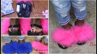 Summer 17 DIY Fur flops| Kids and Adults