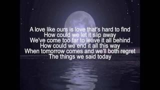 If You Leave Me Now-Chicago-Lyrics.wmv