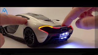 Unboxing Review McLaren P1 AUTOart 1/18 Diecast Car LED Lights Распаковка
