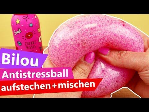 Bilou Antistressball aufstechen & mischen   Glibbi & Wasserperlen    DIY Fun Idee