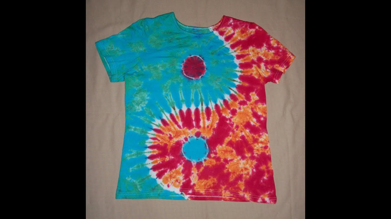 How to tie dye a yin yang design youtube ccuart Image collections