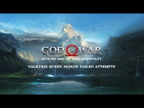 God Of War - Valkyrie Queen Sigrun Failed Attempts (Give Me God Of War Difficulty)