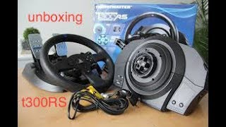unboxing thrusmaster t300rs fr ps4