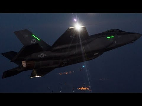 F-35B Lightning II aircraft NIGHT REFUELING over JAPAN! (Marine Fighter Attack Squadron (VMFA) 121.)