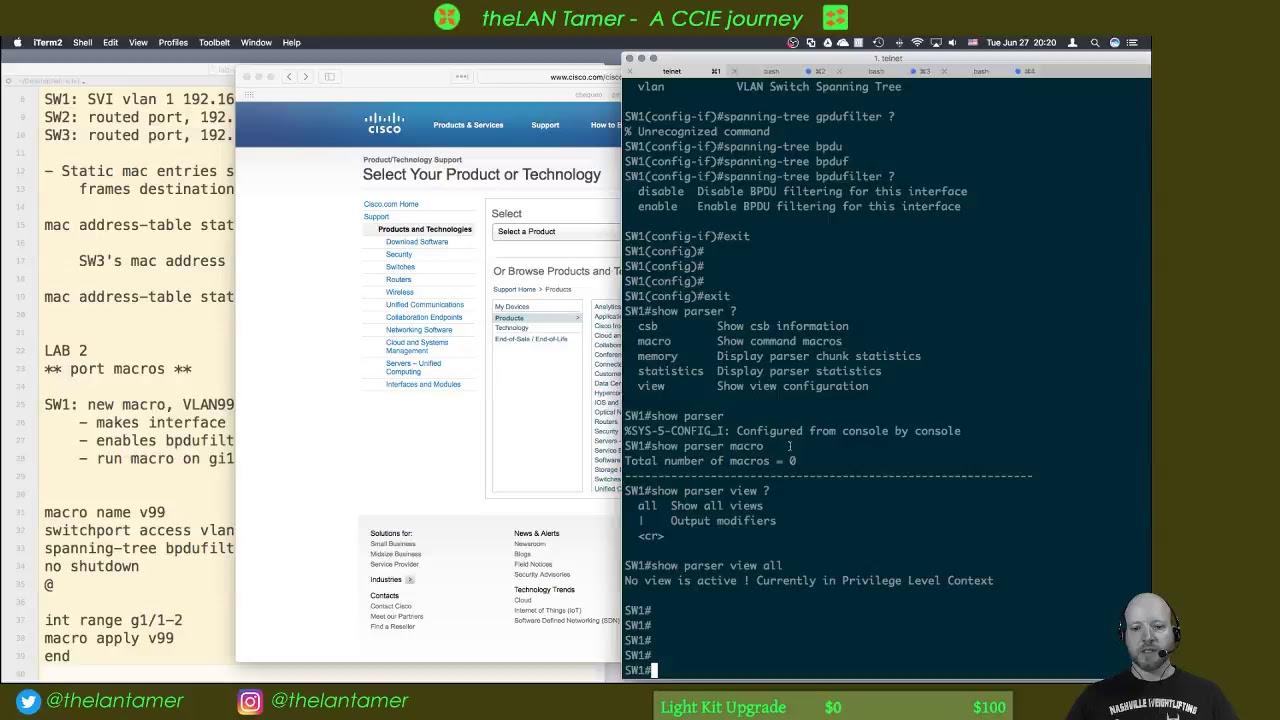 day 3 - lab stream - mac address drop, port macros