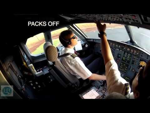 Preparação de um voo de rotina numa aeronave da TAM.