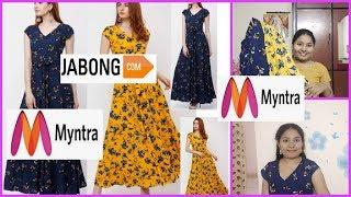 kurti haul|myntra maxi dresses haul |jabong maxi dresses haul |kurtis try on haul in telugu |