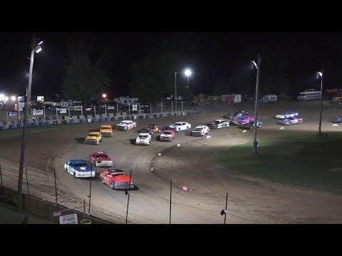 A Feature 1 (15 Laps): 51-Andrew Fidler, 41N-Ryan Nethers, 62-Dustin Weber, 63-Kevin Rohn, 29-Gabe Geselman, 17X-Fred Traxler, 00-Alex Richards, ... - dirt track racing video image