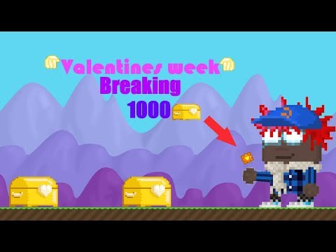 Growtopia - BREAKING 1000 GB Chests ! Getting ??