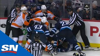 Flyers' Robert Hagg Ejected For Hitting Jets' Kyle Connor From Behind