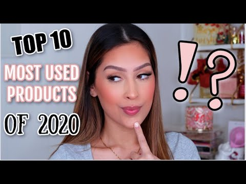 TOP 10 MOST USED MAKEUP IN 2020| HOLY GRAIL PRODUCTS YOU NEED TO TRY !!