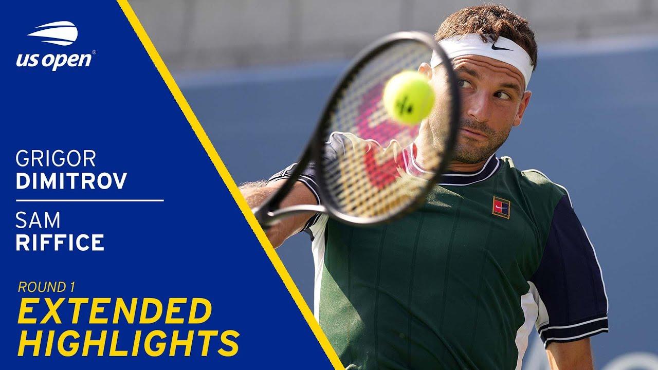 Grigor Dimitrov vs Sam Riffice Extended Highlights | 2021 US Open Round 1