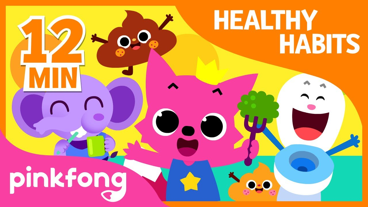 Bath Time song and 9+ songs  Healthy Habits Songs   + Compilation   Pinkfong Songs for Children