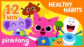 Bath Time song and 9  songs| Healthy Habits Songs |   Compil...