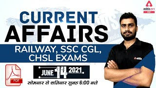 14th June Current Affairs Today   Daily Current Affairs for Railway, SSC, CGL, CHSL Exam Preparation