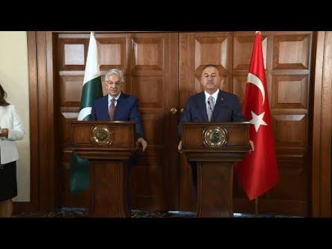 Dışişleri Bakanı Sayın Mevlüt Çavuşoğlu'nun Pakistan Dışişleri Bakanı İle Ortak Basın Toplantısı