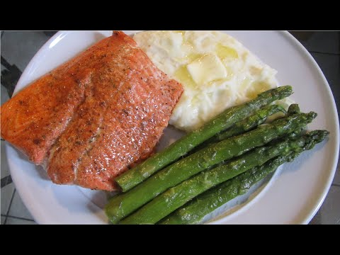 How To Make Baked Salmon With Mashed Potatoes And Asparagus