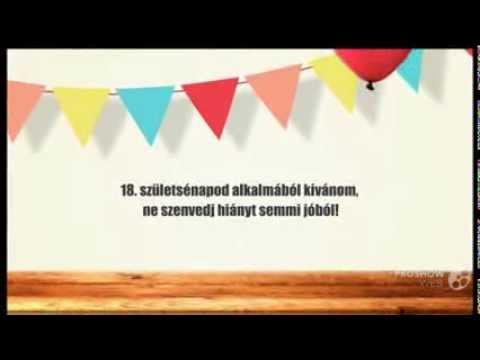 szülinapi köszöntő 18 éves Születésnapi videó képeslap 18 éves fiúknak   YouTube szülinapi köszöntő 18 éves