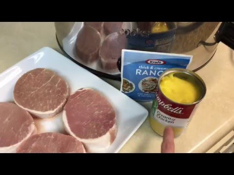 Ranch Pork Chops Crock Pot Slow Cooker Three 3 Ingredients