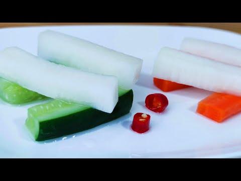【小美食轩】爽口萝卜 做法,腌萝卜,腌黄瓜做法,Pickled radish,Củ cải ngâm,Acar lobak,大根漬け,अचार वाली मूली,Radis mariné