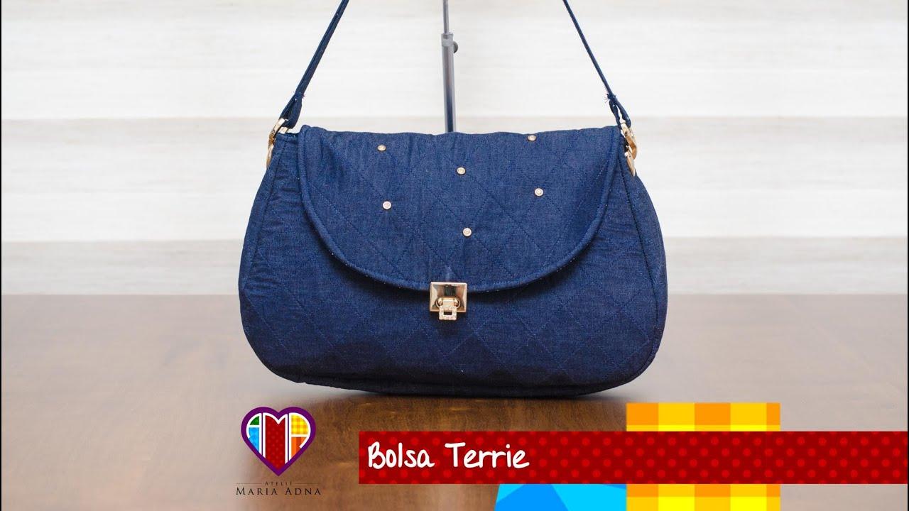 0797bff8a Bolsa de tecido/jeans Terrie. DIY. Jeans bag. Fabric bag. Denim bag  tutorial. Jeans bags