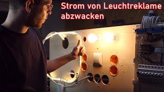 Wenn man Strom für Lampen aufputz abgreifen möchte