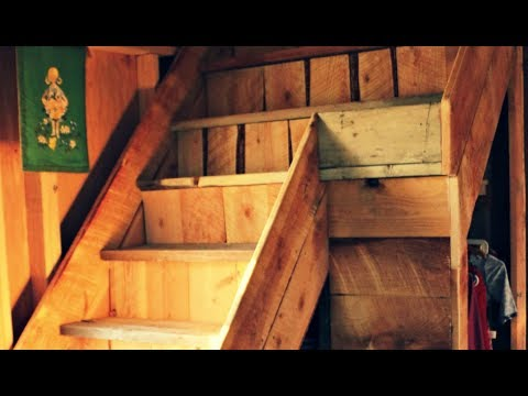GORGEOUS Storage Staircase from Barn Wood