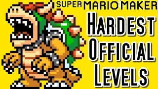 Super Mario Maker TOP 3 HARDEST Official Courses (Wii U)
