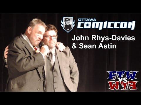 John RhysDavies & Sean Astin  Ottawa ComicCon  Panel