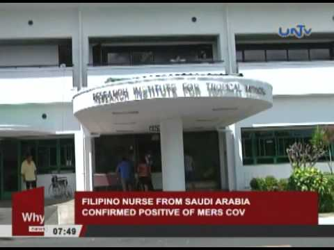 Filipino nurse from Saudi Arabia confirmed positive of MERS-CoV
