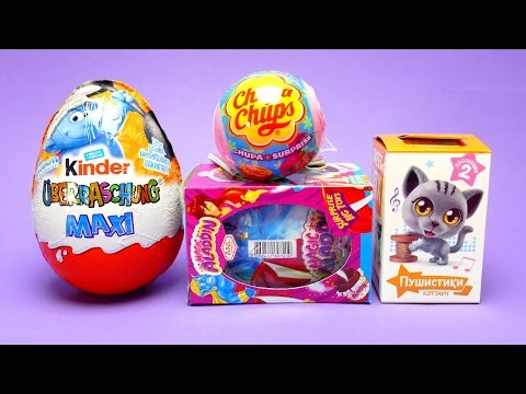 Thumbnail: Magic Aladdin Chocolate Egg, Chupa Chups - Surprise Ball, Kinder Mega Maxi Egg & Cute Cat