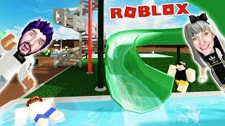 Roblox: KAAN + NINA BUILD WATER PARK WITH MEGA RUTSCHEN! WATER PARK WORLD #02