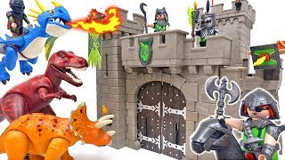 PLAYMOBIL Wolf Knights' Castle~! Defend Our Castle from Dinosaurs & Dragons #ToyMartTV