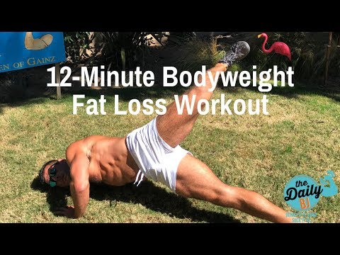 🔥12-Minute Bodyweight Fat Loss Circuit | BJ Gaddour Your Body Is Your Barbell